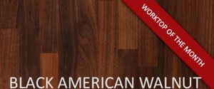 Black American Walnut Worktop of the Month