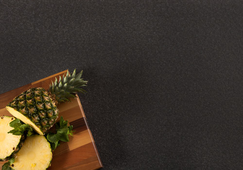Black granite solid laminate worktops are constructed using high pressure and temperature resulting in a highly durable work surface.
