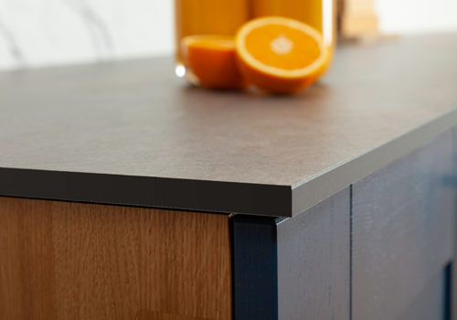 Solid laminate worktops are not only stylish, but also made from highly durable materials.