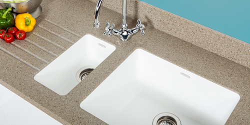 This coffee Earthstone integrated sink worktops is the ideal solution if you want an undermount sink.