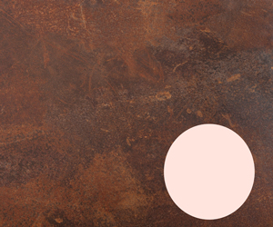 Rouille Zenith Copper Worktop with pink