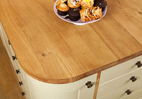 Full stave oak worktops are heavy, so require at least two kitchen worktop fitters to install.