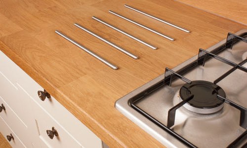Hotrods are the perfect feature to protect your worktop from hot pans.