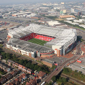 Old Trafford is the home of Manchester United.