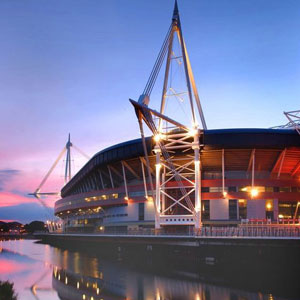The Millennium Stadium in Cardiff is is the national stadium of Wales.