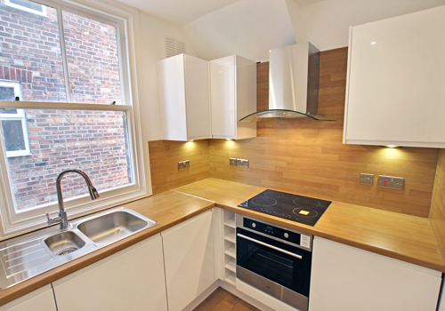 Oak block laminate worktops emulate authentic solid oak but at a fraction of the cost.