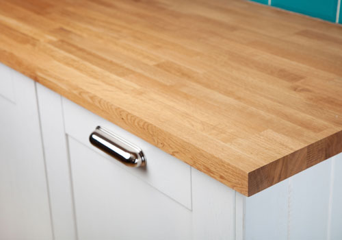 Oak worktops make a charming addition to any kitchen.