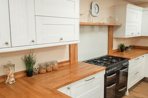 Our Smethwick showroom is located on Redwood Trade Park and exhibits many beautiful worktops including European walnut.