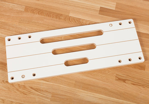 Hotrod jigs are used to create the grooves in worktops to accommodate stainless steel hotrods.