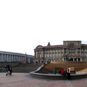 The beautiful Victoria Square is located in Birmingham's city centre.