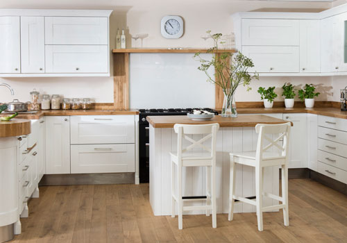Kitchen seating should be at a comfortable height for your kitchen island.