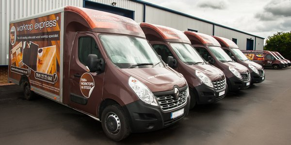 Worktop Express Delivery Service Vans