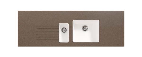 Mocha Earthstone Integrated Sink