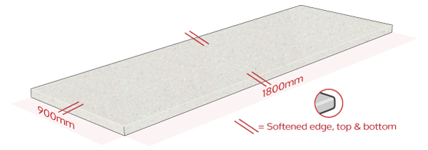 Nordic Earthstone Work Surface Dimensions