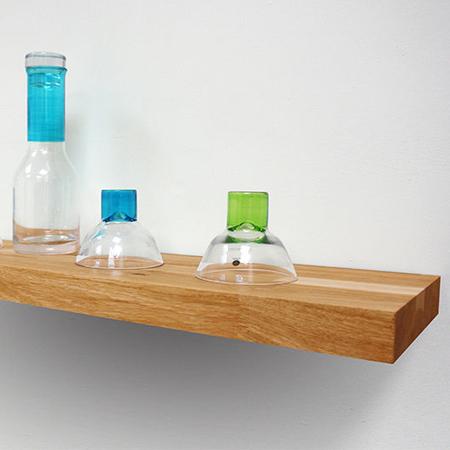 Solid Oak Floating Shelf Oak 600mm X 200mm X 40mm