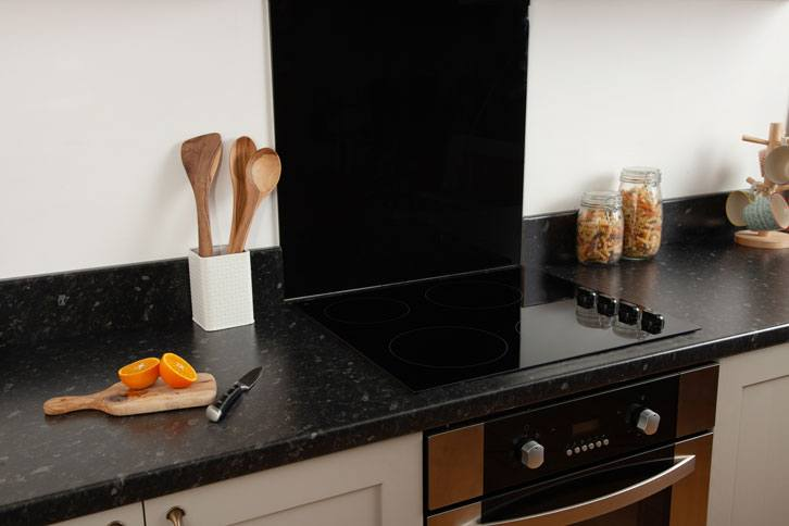 Black Granite Effect Laminate Kitchen Worktop