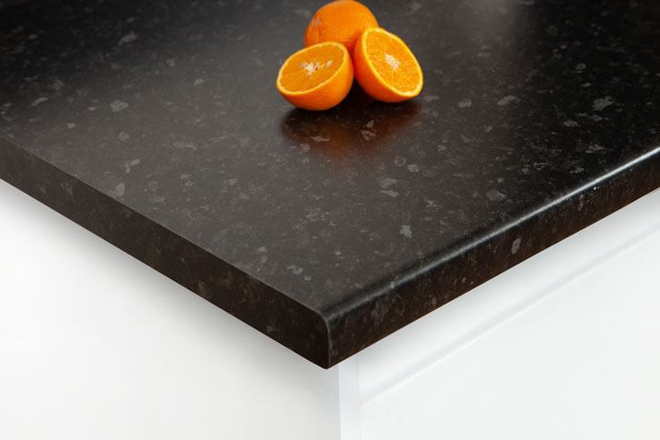 Black Granite Effect Laminate Worktop Corner