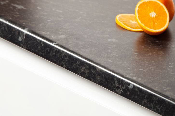 Black Granite Effect Laminate Worktop Edge