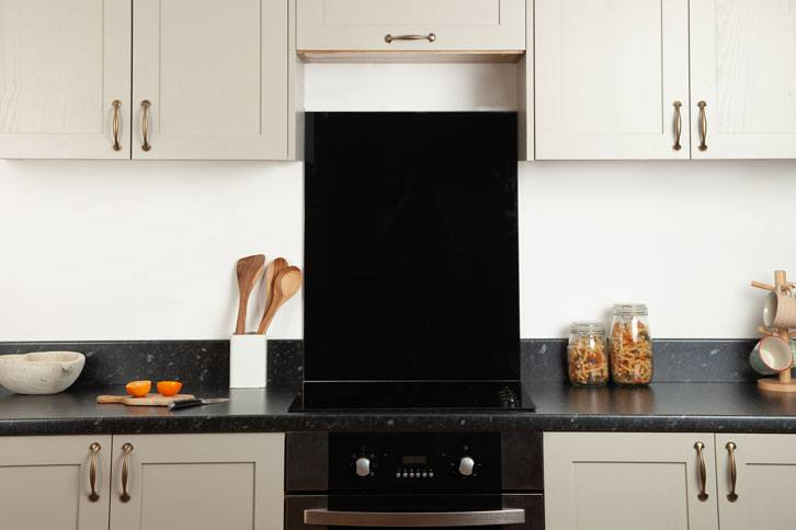 Black Granite Effect Laminate Worktop in Kitchen