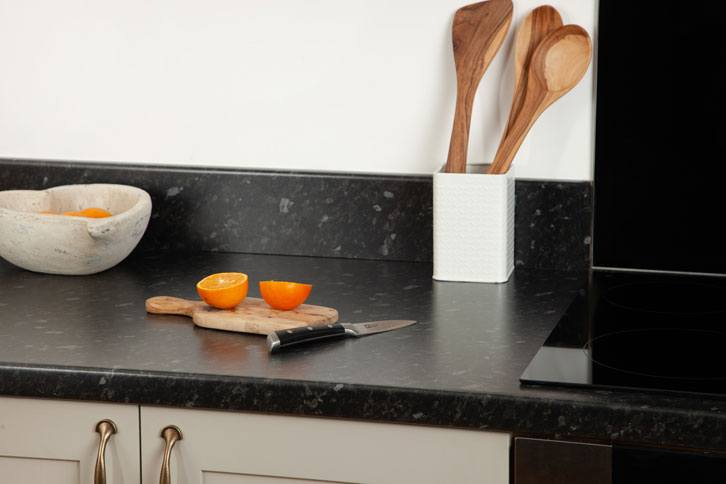 Black Granite Effect Laminate Worktop with Sink