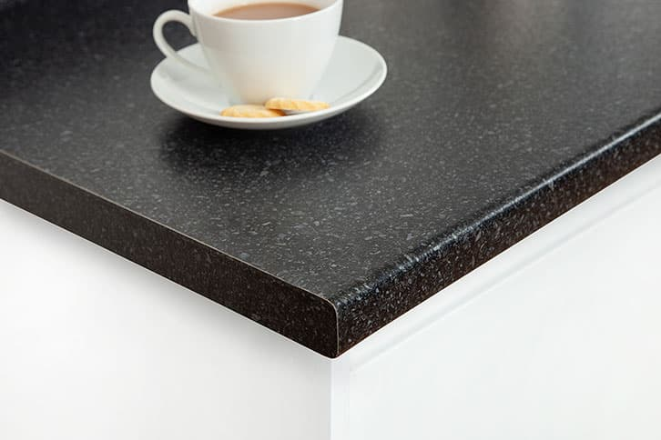 Black Quartz Laminate Worktop Corner