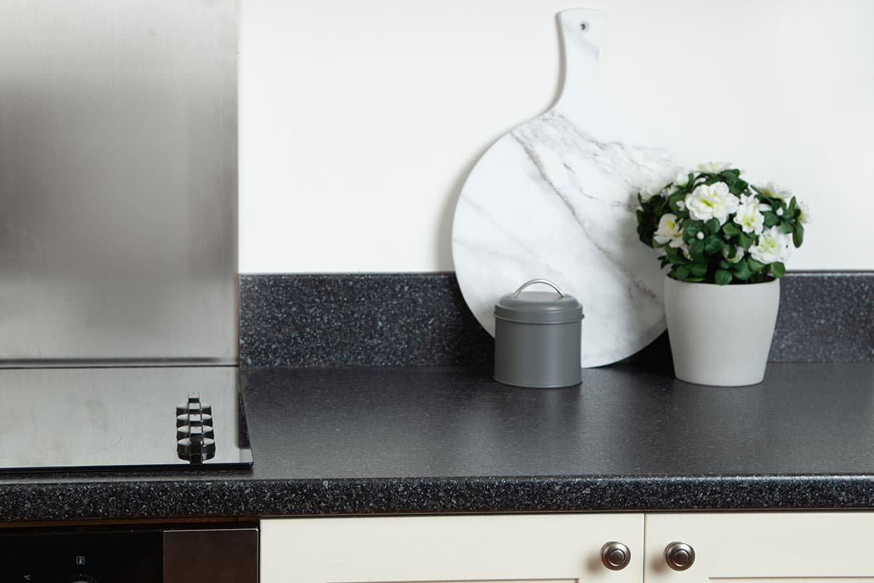 Go to our Black Quartz laminate worktop gallery page