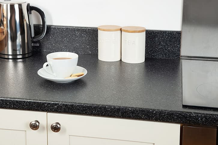 Black Quartz Laminate Worktop Surface