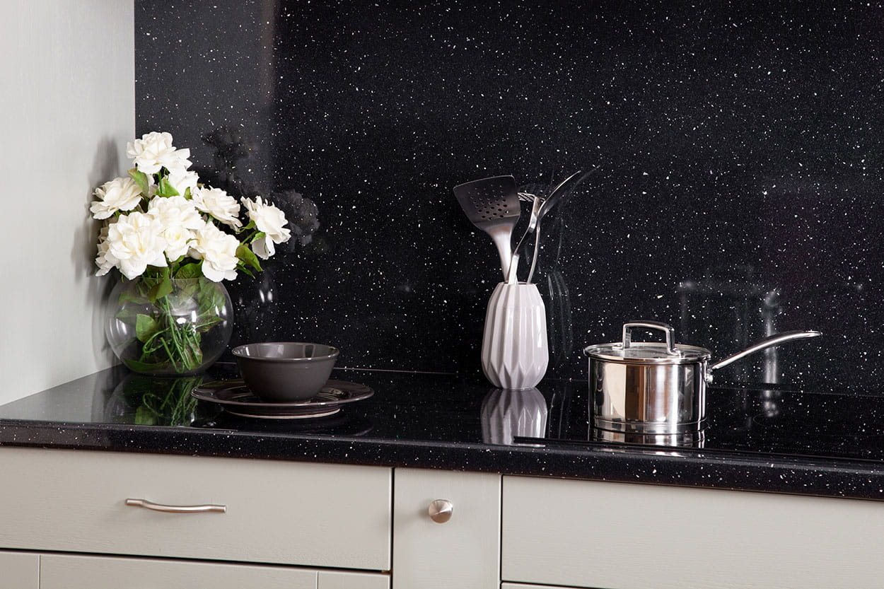 Go to our Black Sparkle laminate worktop gallery page