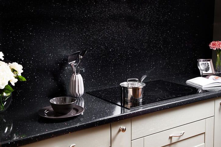 Black Sparkle Laminate Worktop Kitchen Island
