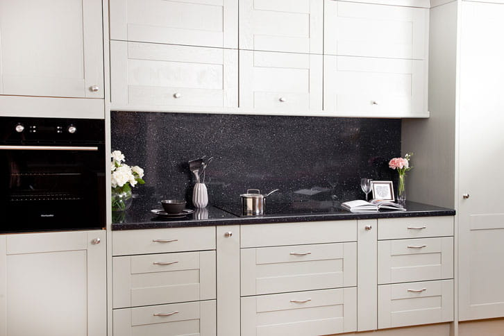 Black Sparkle Kitchen Laminate Worktop