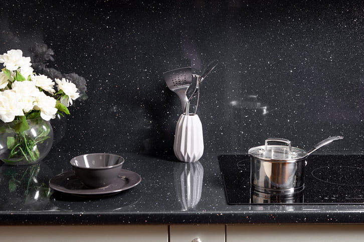 Black Sparkle Laminate Worktop with Sink
