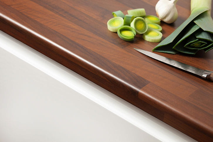 Black Walnut Block Laminate Worktop Edge
