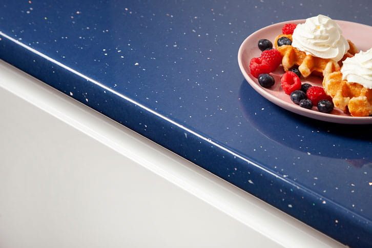 Blue Andromeda Laminate Worktop Edge