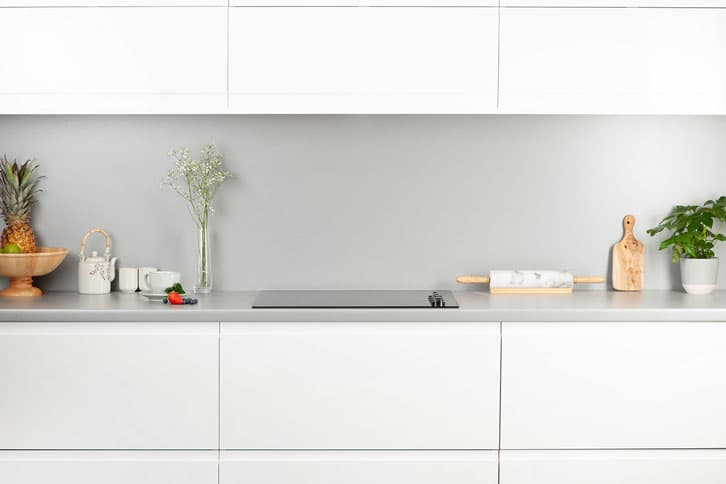 Brushed Stainless Steel Effect Laminate Kitchen Worktop
