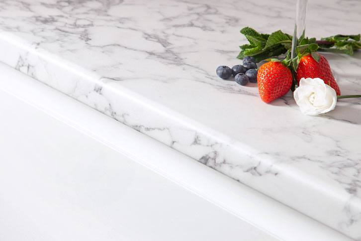 Marble effect Worktop Edge