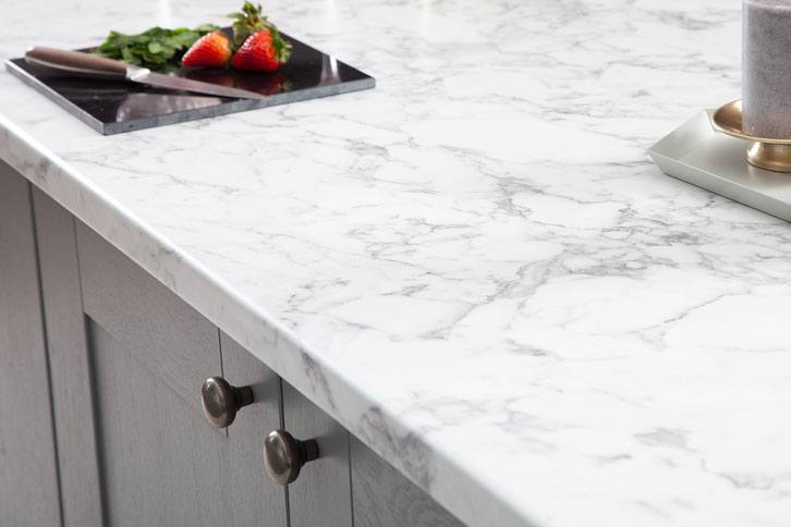 Marble effect Worktop with Sink