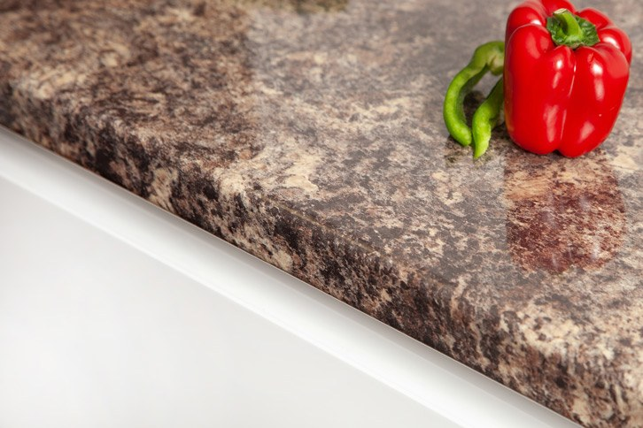 Caribbean Stone Laminate Kitchen Worktop Edge