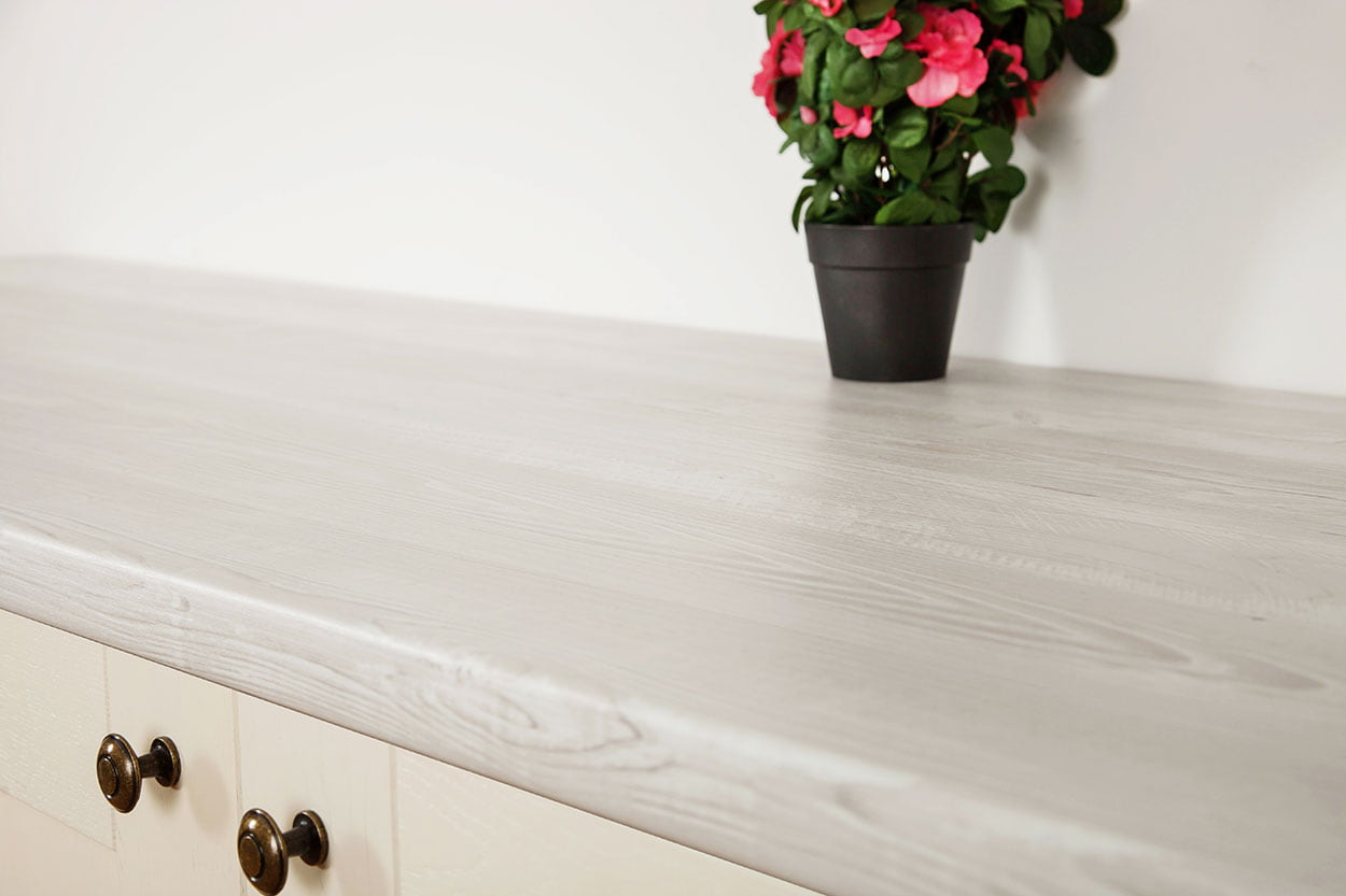Go to our cascina pine white wood laminate worktop gallery page