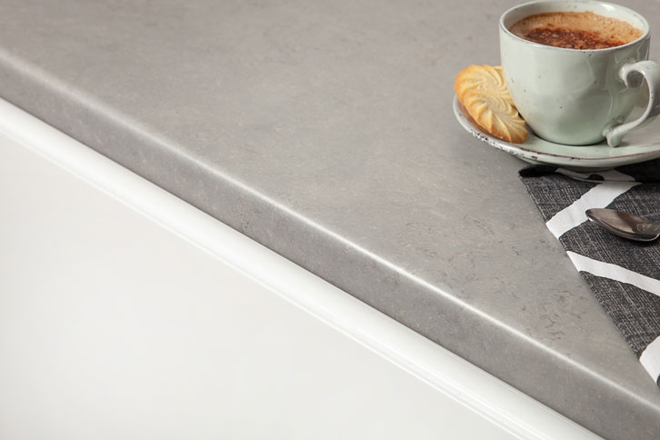 Concrete Grey Laminate Worktop Edge