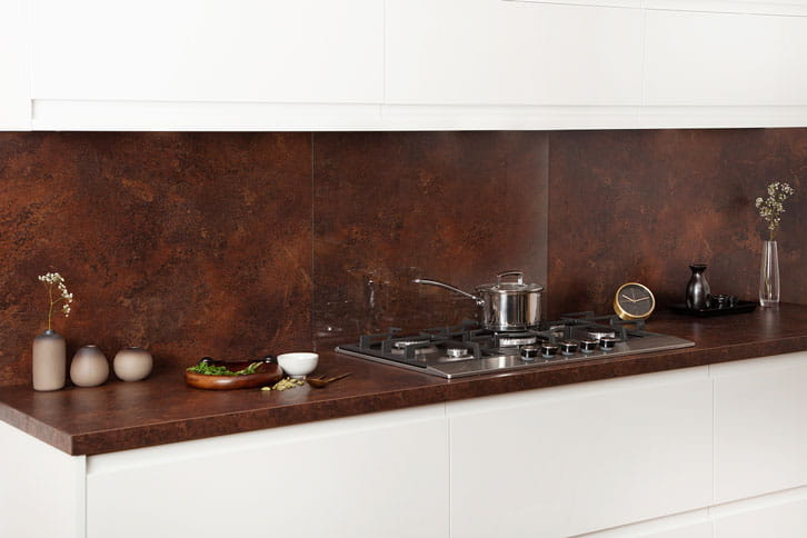 Copper Effect Kitchen Island