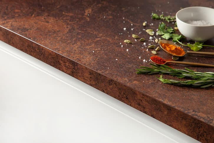 Copper Effect Worktop Edge