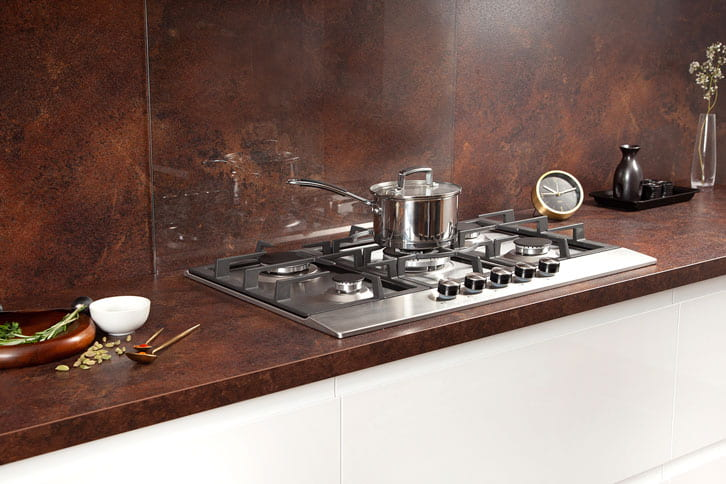 Copper Effect Worktop with Sink