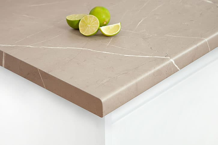 Cream Stone Laminate Worktop Corner