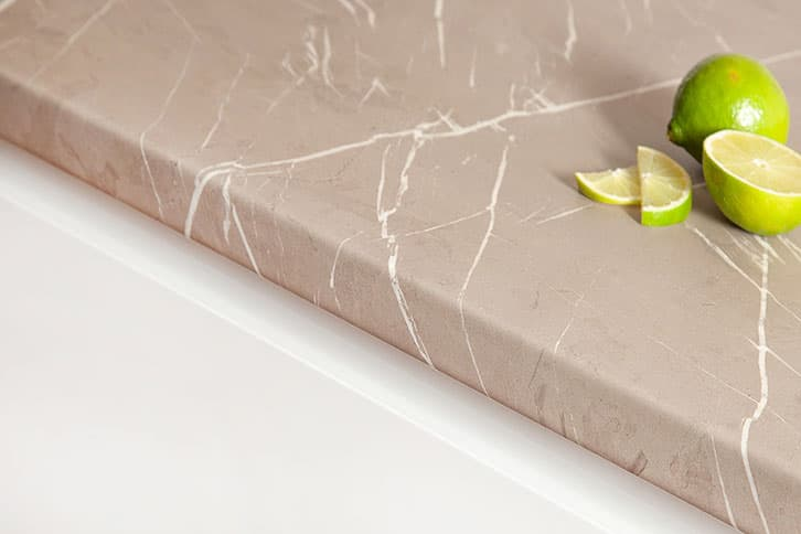 Cream Stone Laminate Worktop Edge