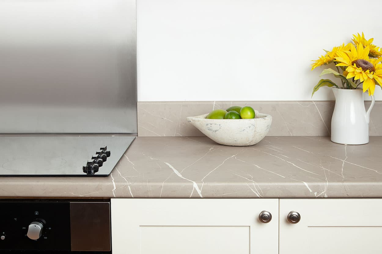 Go to our Cream Stone laminate worktop gallery page