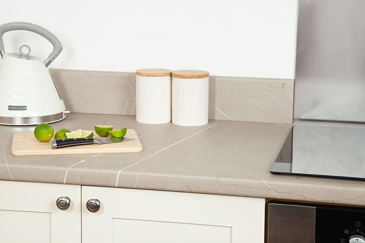 Cream Stone Laminate Worktop Surface