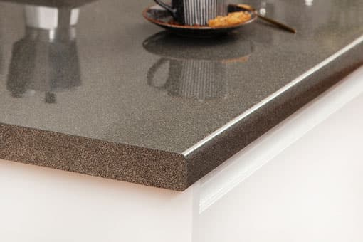 Galaxy Gloss - Glitter Laminate Worktop Corner