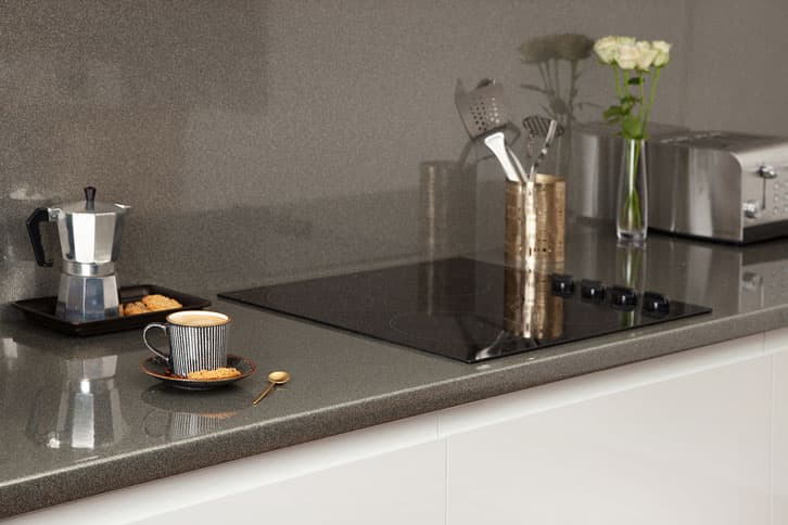 Galaxy Gloss - Glitter Laminate Worktop with Sink