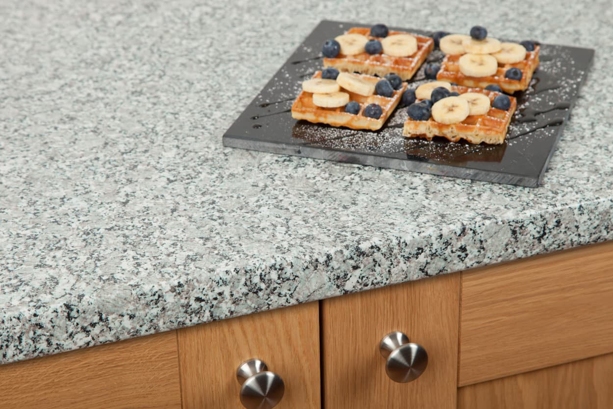 Go to our grey granite laminate kitchen worktop gallery page