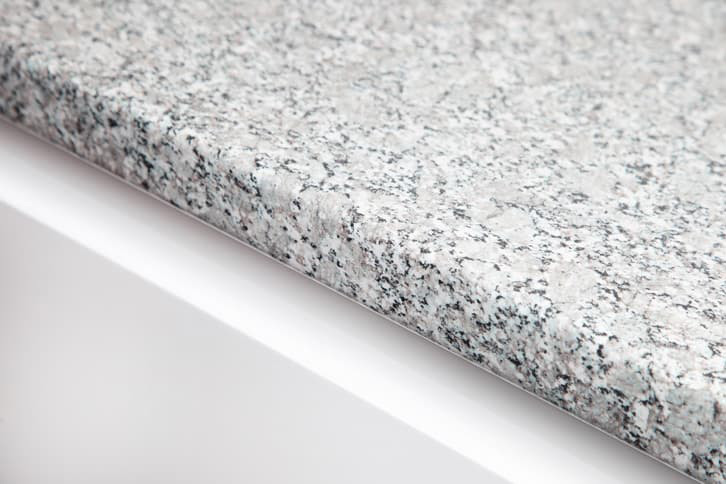 Grey Granite Laminate Kitchen Worktop Edge